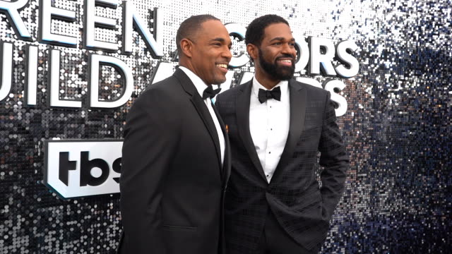 jason george jarvis w george at the 26th annual screen actors guild awards red carpet roaming at the shrine auditorium on january 19 2020 in los... - jason george stock videos and b-roll footage