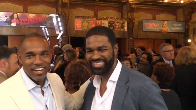 jason george jarvis w george outside the color purple opening night at the pantages theatre in hollywood in celebrity sightings in los angeles - jason george stock videos and b-roll footage