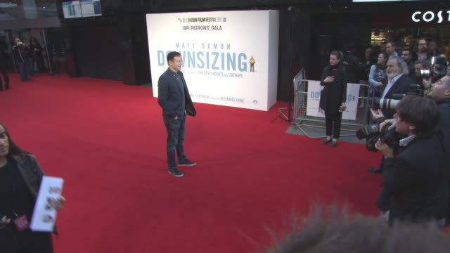 jason isaacs at 'downsizing' uk premiere 61st bfi london film festival at odeon leicester square on october 13 2017 in london england - jason isaacs stock videos & royalty-free footage