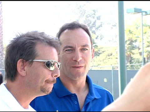 jason isaacs at the 2004 racquet rumble at riviera tennis club in pacific palisades california on september 26 2004 - jason isaacs stock videos & royalty-free footage