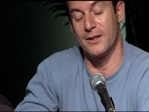 jason isaacs at the 2006 sundance film festival friends with money press conference on january 20 2006 - money press stock videos and b-roll footage