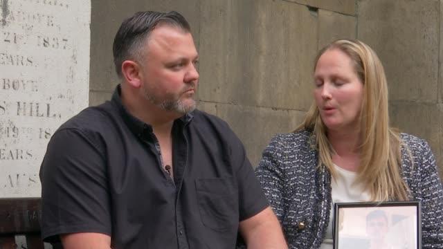 gang member sentenced england london ext sharon kendall interview sot alongside steve isaacs - jason isaacs stock videos & royalty-free footage