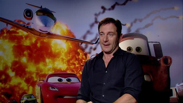 jason isaacs on beign asked to voice a character pixar disney at the cars 2 interviews at london england - jason isaacs stock videos & royalty-free footage