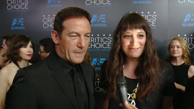 interview jason isaacs on being at the event and on upcoming projects at the 2015 critics' choice television awards at the beverly hilton hotel on... - jason isaacs stock videos & royalty-free footage