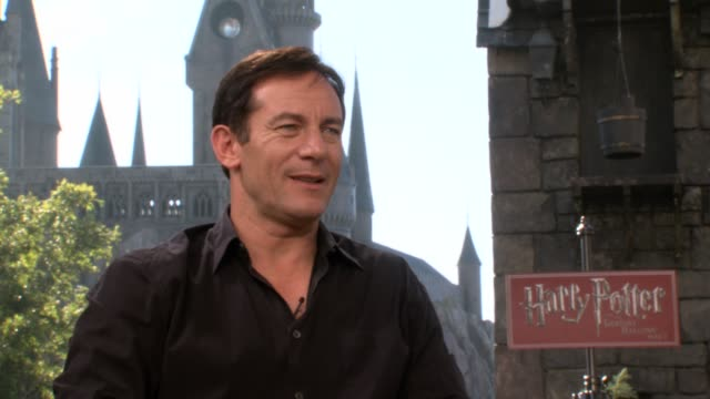 jason isaacs on being at the park and on his career having done the 'harry potter' films - jason isaacs stock videos & royalty-free footage
