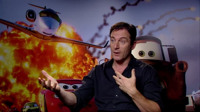 jason isaacs on doing voice over work it being a freeing experience at the cars 2 interviews at london england - jason isaacs stock videos & royalty-free footage