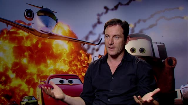 jason isaacs on pixar crew relationships story telling john lasseter 60s spy film's and more at the cars 2 interviews at london england - jason isaacs stock videos & royalty-free footage