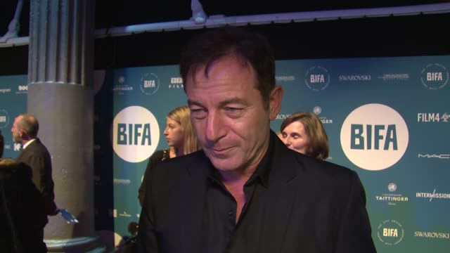 jason isaacs on the bifa's and the sector at old billingsgate on december 02 2018 in london england - jason isaacs stock videos & royalty-free footage