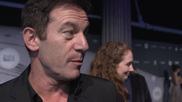 interview jason isaacs on the importance of the bifa's and independent film awards wanting people to see the awards and want to watch more... - jason isaacs stock videos & royalty-free footage