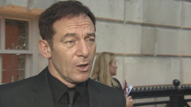 interview jason isaacs on the london film festival being on the sutherland jury being involved with 'star trek discovery' on the recent allegations... - jason isaacs stock videos & royalty-free footage