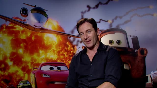 jason isaacs on the two characters he voiced siddeley leland turbo how popular the toys are at the cars 2 interviews at london england - jason isaacs stock videos & royalty-free footage