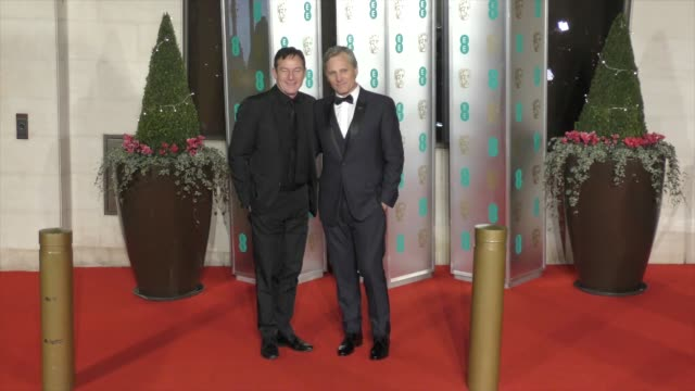jason isaacs viggo mortensen on february 10 2019 in london england - british academy film awards stock videos & royalty-free footage