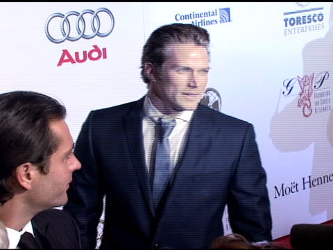 jason lewis at the denise rich marks 10th year of the gp foundation with an evening of stars and music at the 2007 angel ball at marriott marquis... - marriott marquis new york stock videos & royalty-free footage