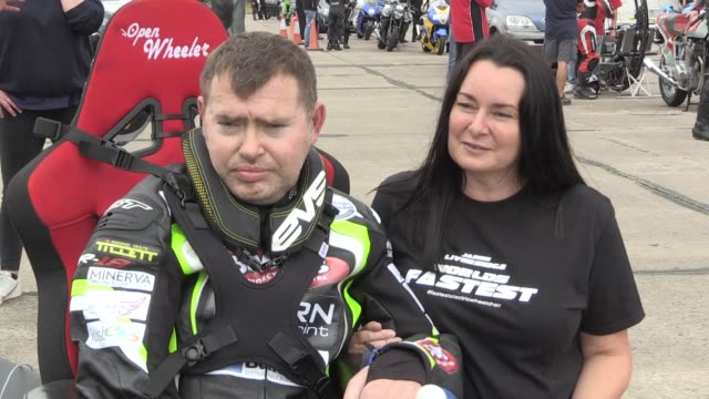 jason liversidge, who is now 95% paralysed with motor neurone disease , has set a new uk time trial record of 59.064 mph in an electric wheelchair in... - paralysis stock videos & royalty-free footage