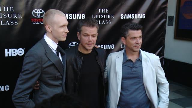 Jason Mann Matt Damon and Marc Joubert at Matt Damon Ben Affleck Adaptive Studios And HBO Present The Project Greenlight Season 4 Winning Film The...