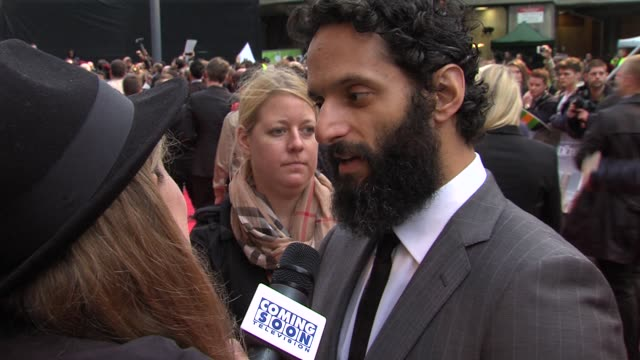 jason mantzoukas at the dictator: world premiere at the royal festival hall on may 10, 2012 in london, england - royal festival hall stock videos & royalty-free footage