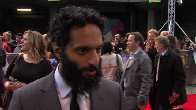 jason mantzoukas on his character, being a fan, working with sacha baron cohen, the dictator: world premiere at the royal festival hall on may 10,... - royal festival hall stock videos & royalty-free footage