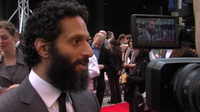 Jason Mantzoukas on working with Sacha Baron Cohen at The Dictator World Premiere at the Royal Festival Hall on May 10 2012 in London England