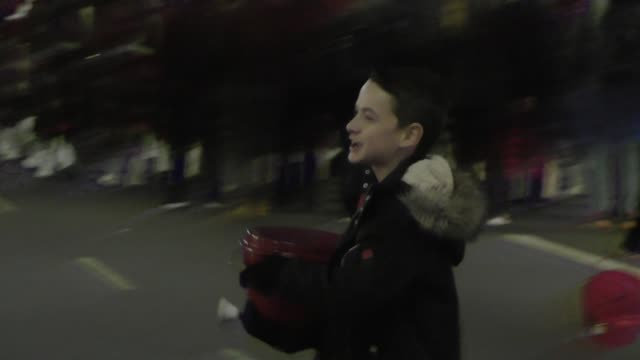 jason maybaum helps raise money for salvation army at the hollywood christmas parade in hollywood in celebrity sightings in los angeles, - salvation army stock videos & royalty-free footage
