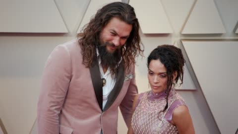 jason momoa and lisa bonet at the 91st academy awards - arrivals at dolby theatre on february 24, 2019 in hollywood, california. - academy of motion picture arts and sciences stock videos & royalty-free footage