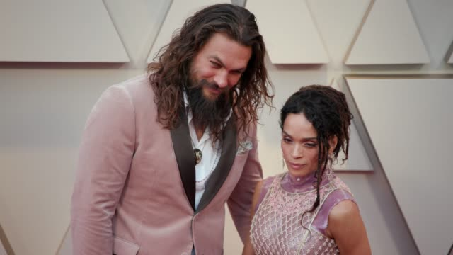 jason momoa and lisa bonet at the 91st academy awards - arrivals at dolby theatre on february 24, 2019 in hollywood, california. - academy awards stock videos & royalty-free footage