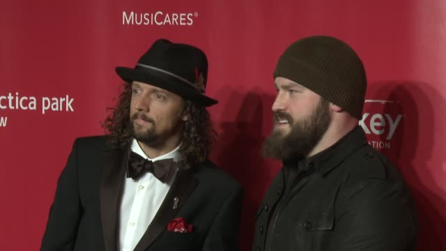 Jason Mraz Zac Brown at MusiCares 2013 Person Of The Year Tribute 2/8/2013 in Los Angeles CA