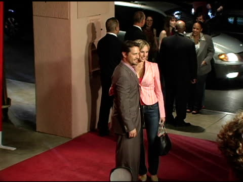 jason priestley and naomi lowde at the bash and celebration of hugo boss' fall winter 2005 collections at the beverly hilton in beverly hills,... - hugo boss stock videos & royalty-free footage