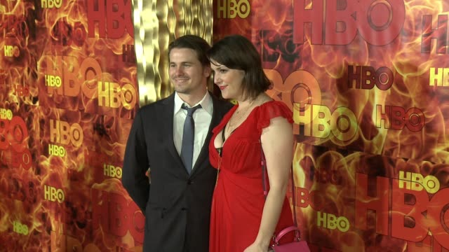 Jason Ritter and Melanie Lynskey at the 2015 HBO Emmy After Party at The Plaza at the Pacific Design Center on September 20 2015 in Los Angeles...
