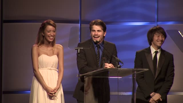 Jason Ritter Christian Serratos Justin Chon at the The 2nd Annual Thirst Project Gala at Beverly Hills CA