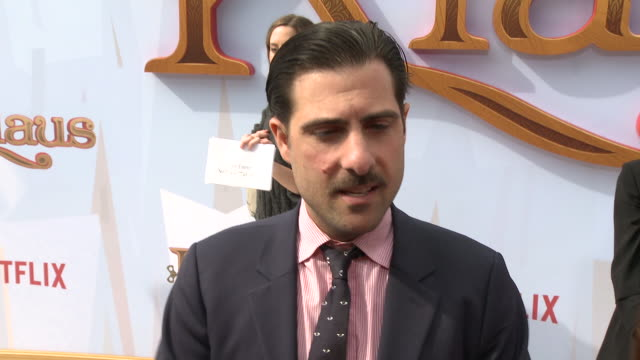 interview jason schwartzman on how he got involved with klaus talks about his character and why the films message of kindness is an important one at... - bruin theater stock videos & royalty-free footage