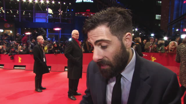 Jason Schwartzman on working with Wes Anderson 68th Berlin Film Festival Isle of Dogs Opening Red Carpet at Berlinale Palast on February 15 2018 in...