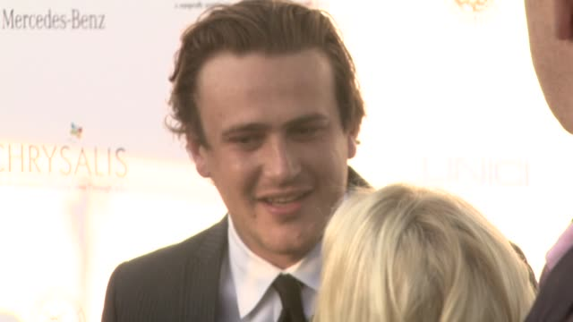 jason segel at the 7th annual chrysalis butterfly ball at los angeles california - chrysalis butterfly ball video stock e b–roll