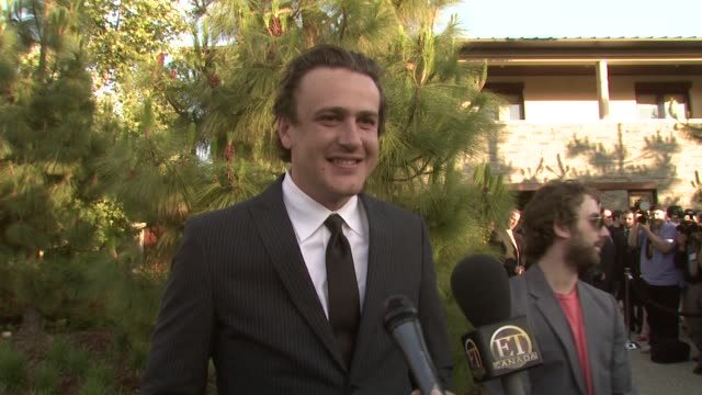 jason segel on the event homelessness his nude scene in 'forgetting sarah marshall' if there will be future nudity at the 7th annual chrysalis... - chrysalis butterfly ball video stock e b–roll