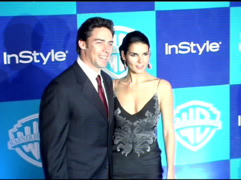 jason sehorn and angie harmon at the instyle/warner brothers golden globes party at the beverly hilton in beverly hills california on january 16 2006 - angie harmon stock videos & royalty-free footage