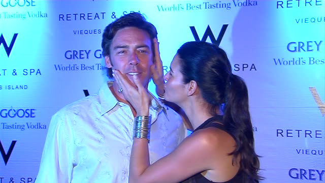 jason sehorn and angie harmon at the w happenings presents symmetry live unplugged at w vieques at vieques - angie harmon stock videos & royalty-free footage