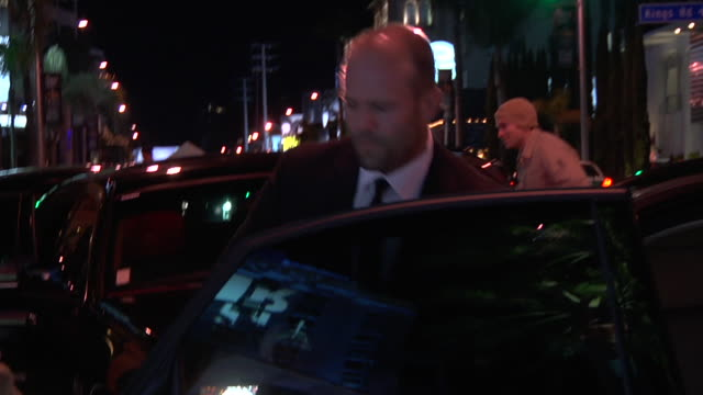 jason statham at the 2011 vanity fair oscar party inside at hollywood ca. - vanity fair oscar party stock videos & royalty-free footage