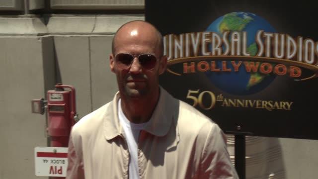 jason statham at universal studios hollywood on june 23, 2015 in universal city, california. - ユニバーサルシティ点の映像素材/bロール