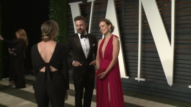 Jason Sudeikis and Olivia Wilde at the 2016 Vanity Fair Oscar Party Hosted By Graydon Carter at Wallis Annenberg Center for the Performing Arts on...