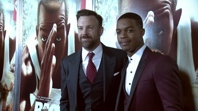 """jason sudeikis and stephan james at """"race"""" new york special screening at landmark sunshine cinema on february 17, 2016 in new york city. - landmark sunshine theater stock videos & royalty-free footage"""