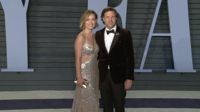 Jason Sudeikis Olivia Wilde at 2018 Vanity Fair Oscar Party in Los Angeles CA