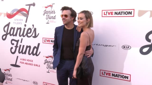 Jason Sudeikis Olivia Wilde at Steven Tyler and Live Nation presents Inaugural Janie's Fund Gala GRAMMY Viewing Party in Los Angeles CA