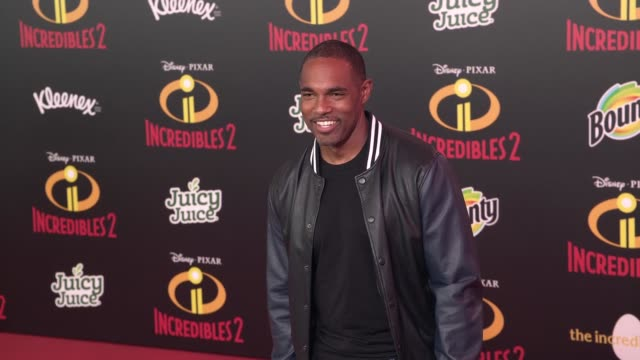 jason winston george at 'incredibles 2' premiere in los angeles ca - jason george stock videos and b-roll footage