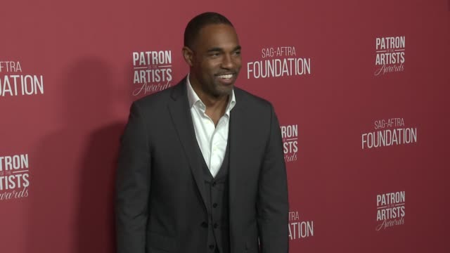 jason winston george at the sagaftra foundation's 3rd annual patron of the artists awards at wallis annenberg center for the performing arts on... - jason george stock videos and b-roll footage
