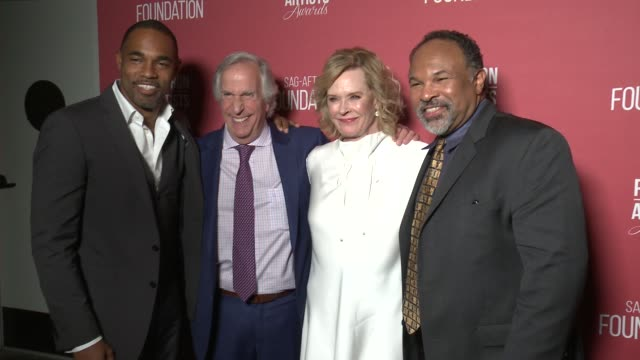 jason winston george henry winkler jobeth williams and geoffrey owens at the sagaftra foundation's 3rd annual patron of the artists awards at wallis... - jason george stock videos and b-roll footage