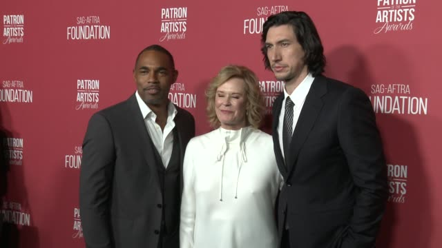 jason winston george jobeth williams and adam driver at the sagaftra foundation's 3rd annual patron of the artists awards at wallis annenberg center... - jason george stock videos and b-roll footage