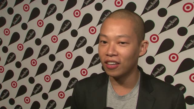 jason wu on working with target and neiman marcus at target neiman marcus holiday collection launch event interview jason wu on working with target... - neiman marcus stock videos & royalty-free footage