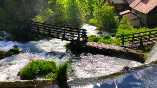 jaun waterfall village of jaun visible - 1928 stock videos & royalty-free footage