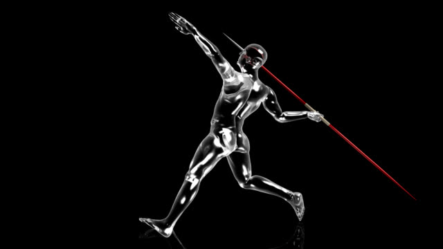 3d javelin throw man - record breaking stock videos & royalty-free footage
