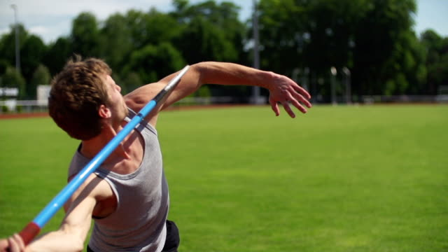 slow motion: javelin - javelin stock videos & royalty-free footage