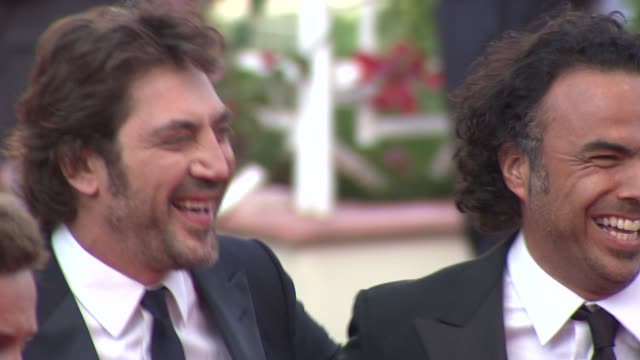 Javier Bardem and Alejandro Gonzalez Inarritu at the Closing Night/The Tree Red Carpet Cannes Film Festival 2010 at Cannes
